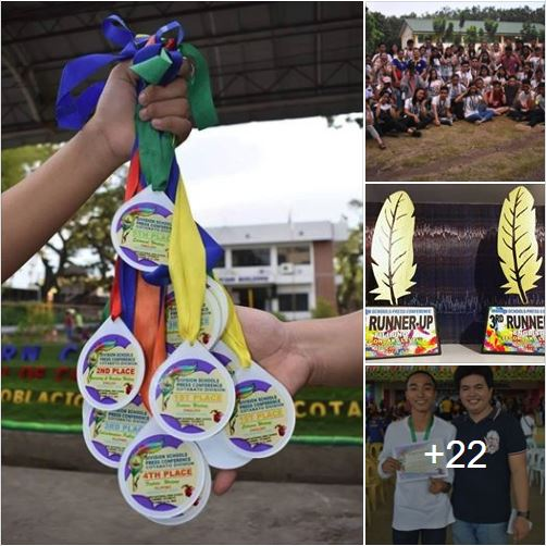 high school and elementary winners of the Division Schools Press Conference held last October 12-13 for the high school and October 19-20 for elementary at Carmen National High School and Carmen Elementary School